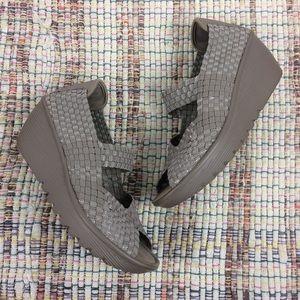 Skechers Memory Foam Slip-On Wedges